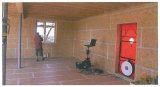 Air tightness testing blower door test