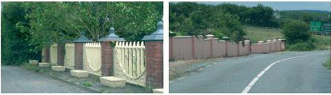 Examples of inappropriate treatment of roadside boundary.
