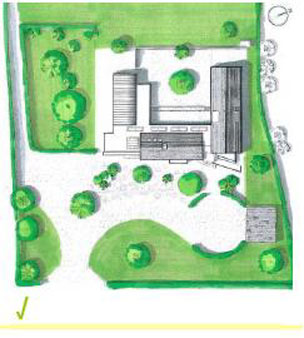 Site layout plan of house